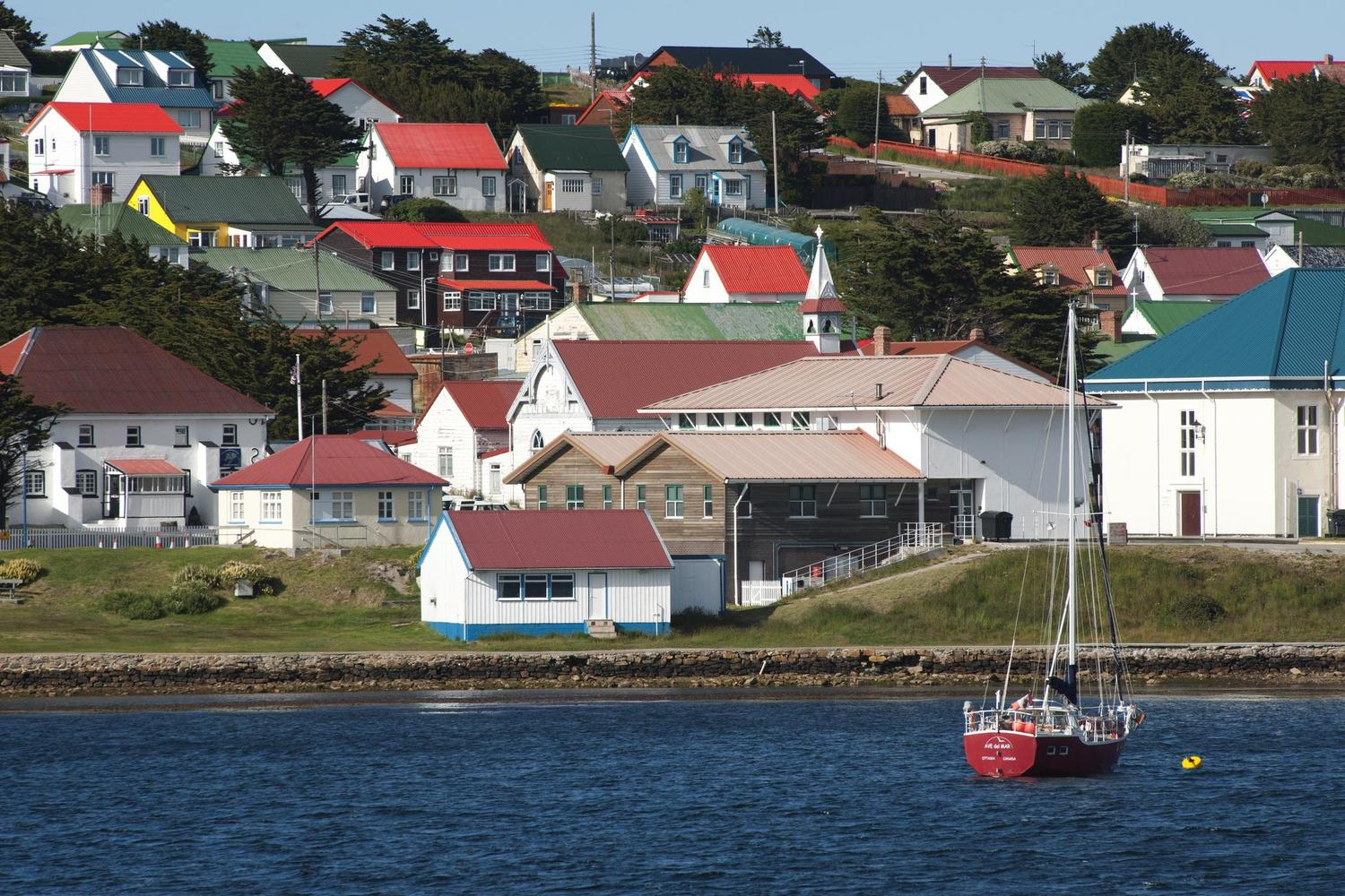 The colourful houses of Port Stanley on the Falkland Islands