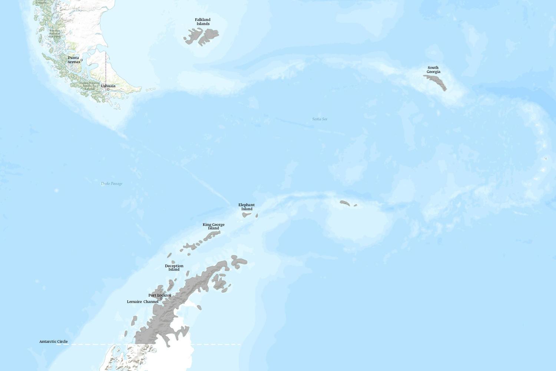 Antarctica When to Go Map - April