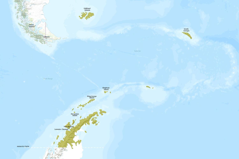 Antarctica When to Go Map - November