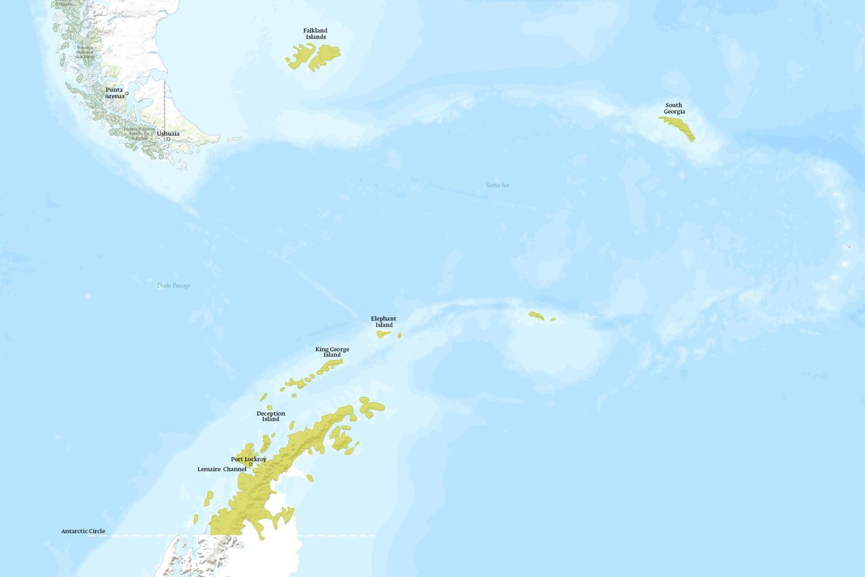 Antarctica When to Go Map - December