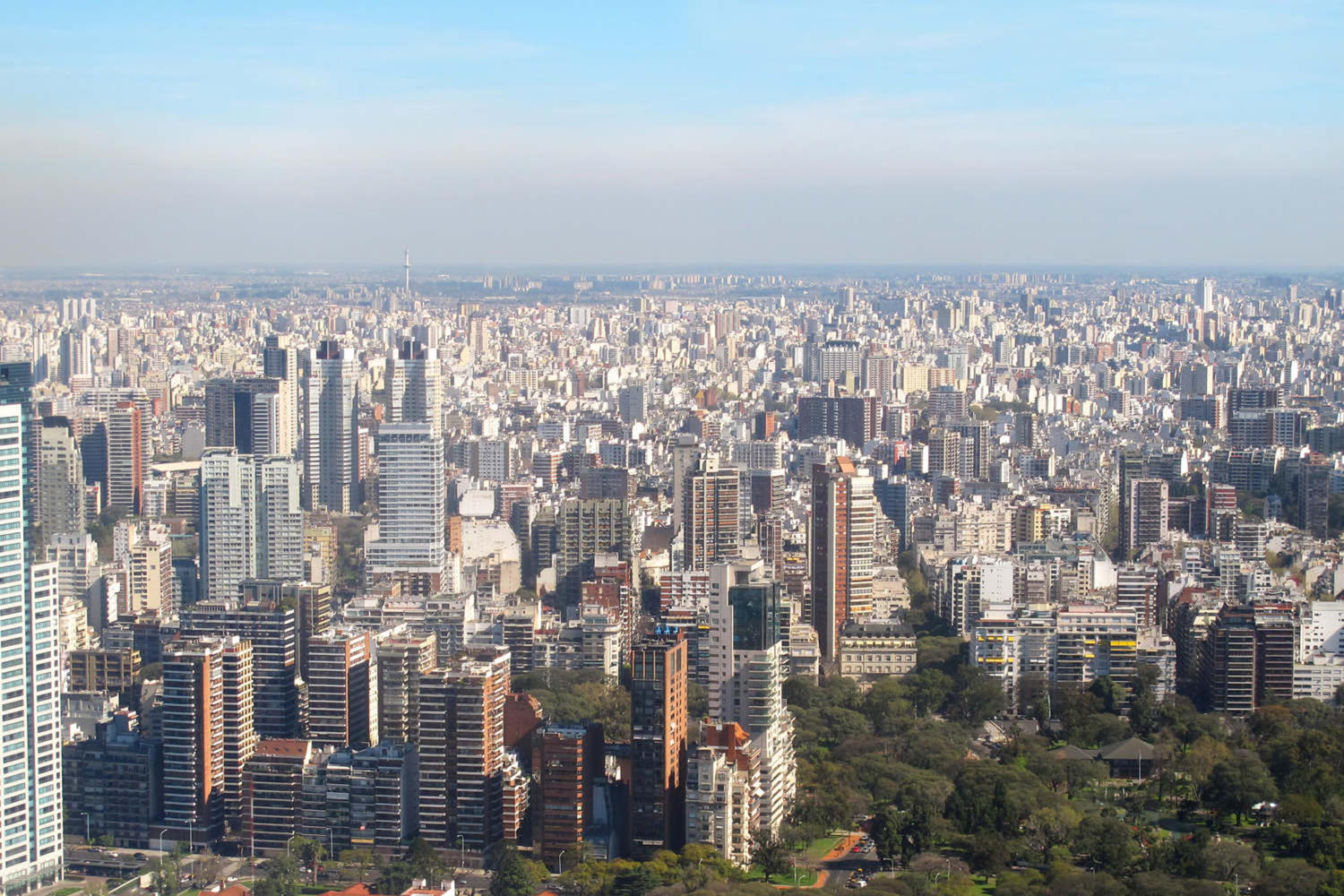 Aerial photo of Buenos Aires