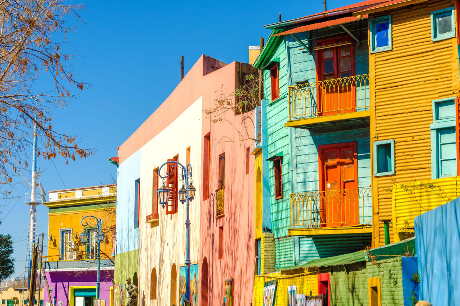 Bright colors of Caminito street in La Boca neighborhood