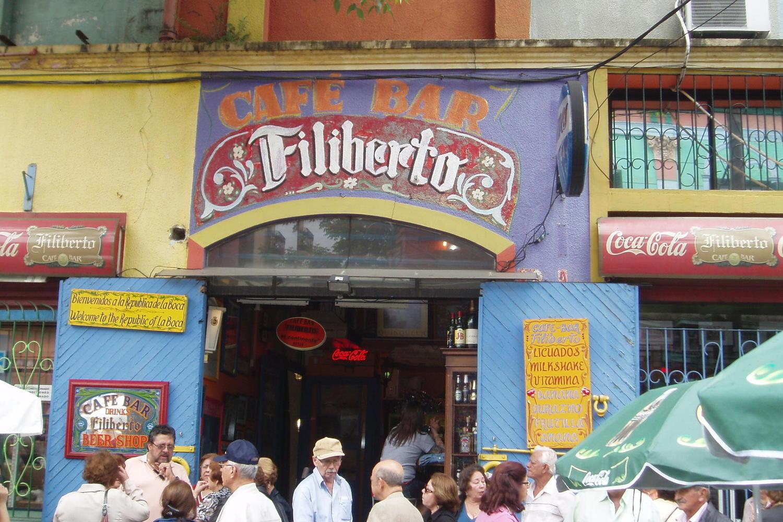 Cafe bar in La Boca, Buenos Aires.