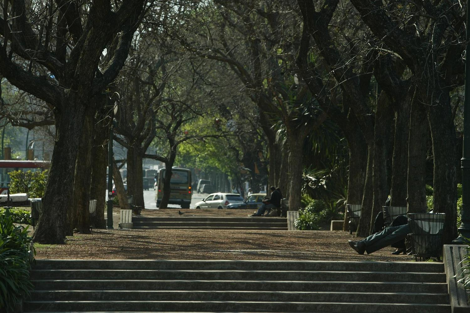 The beautiful park in central Palermo, Buenos Aires