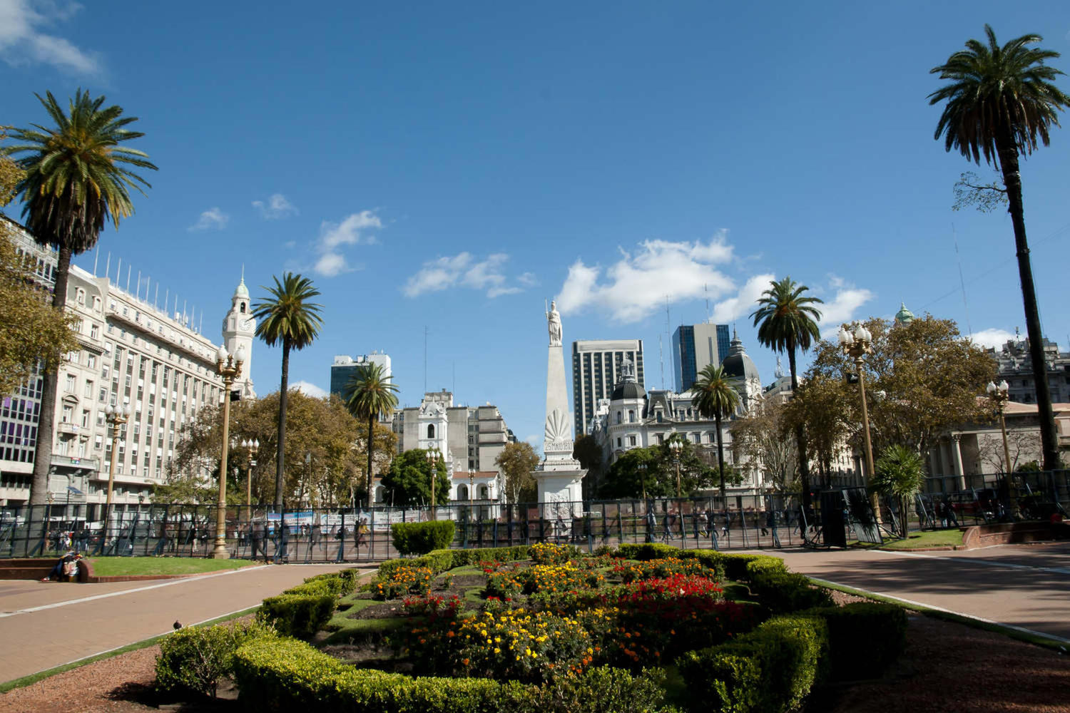 Famous Plaza de Mayo in Buenos Aires