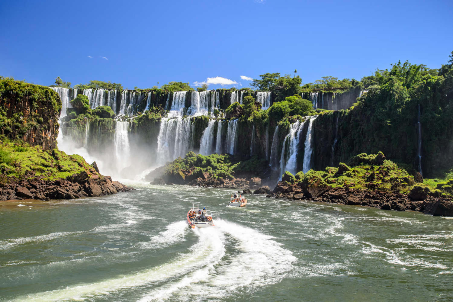 Beautiful view of Iguassu falls