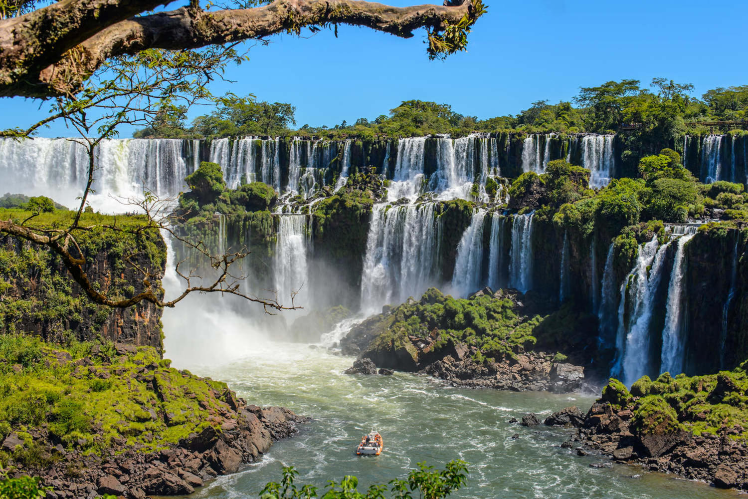 Stunning view of the Iguassu waterfalls