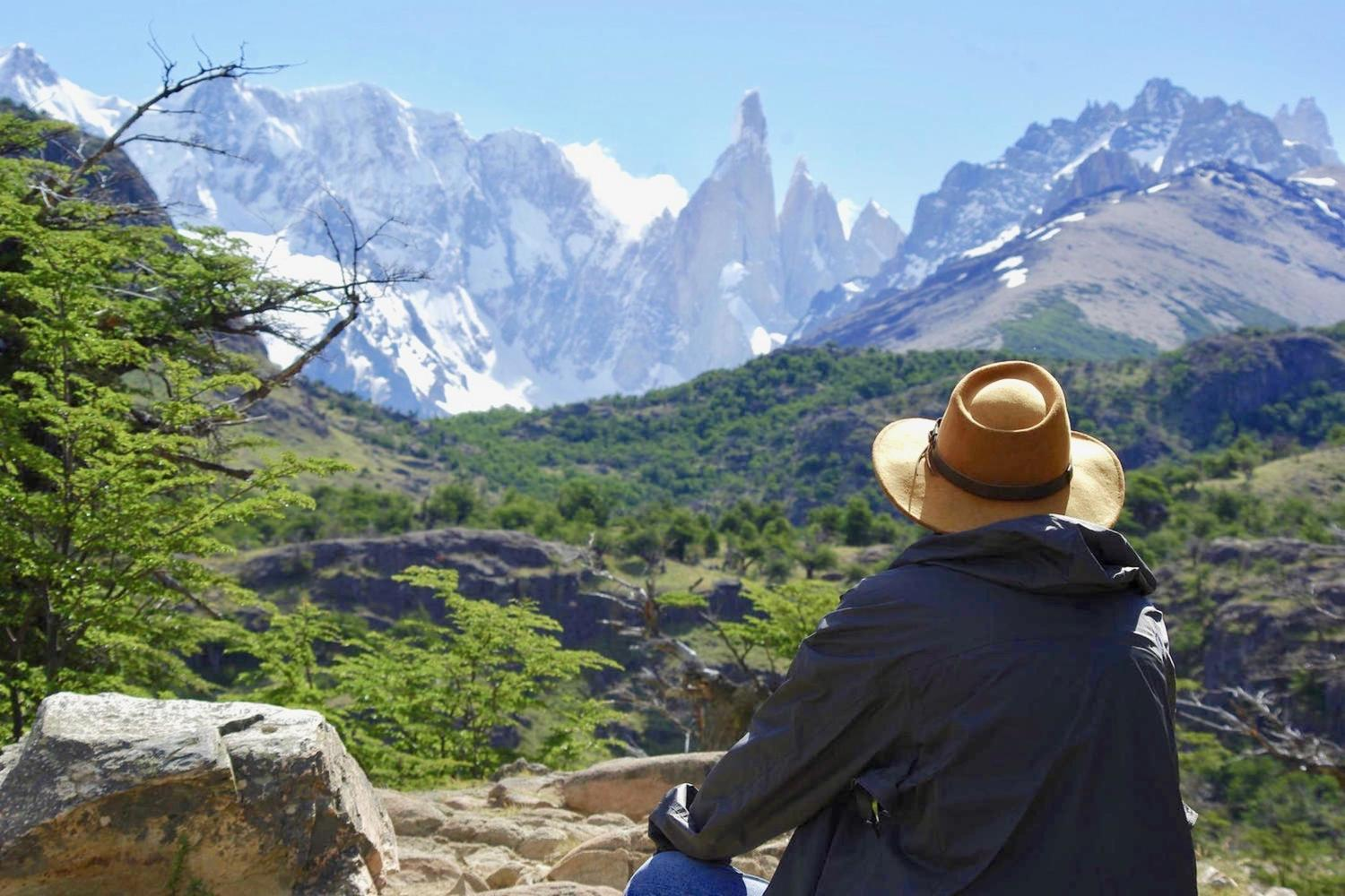 Looking out to Cerro Torre at El Chalten