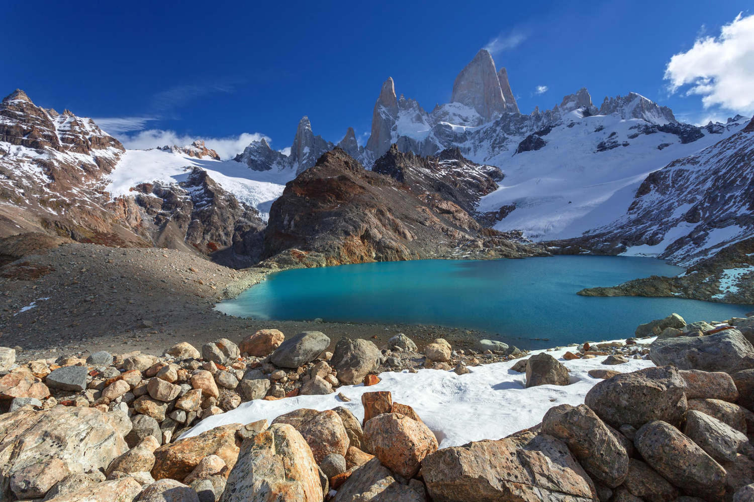 Stunning view of Mount FitzRoy