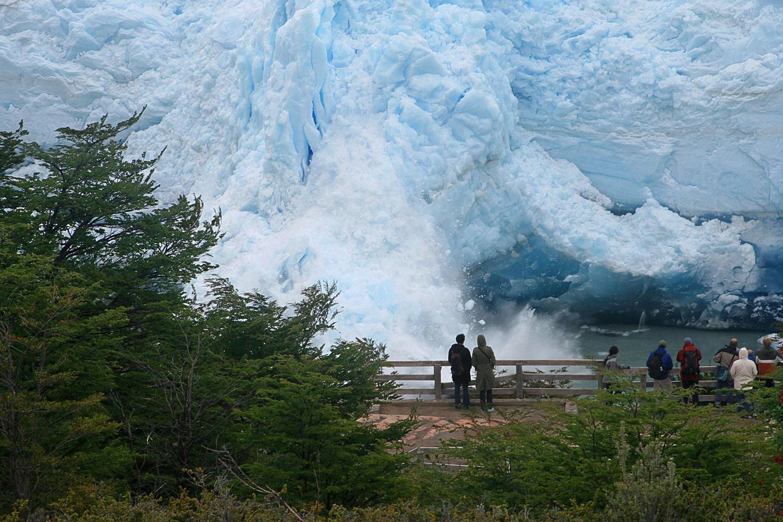 Perito Moreno glacier calving off spectacularly in Patagonia