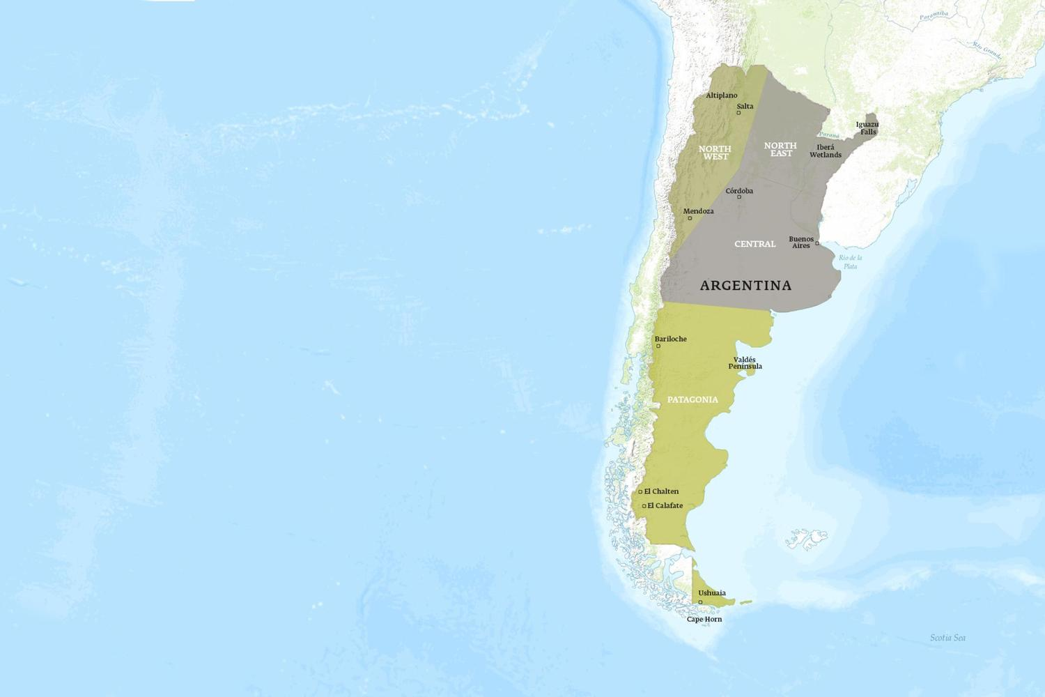 Argentina When to Go Map - January