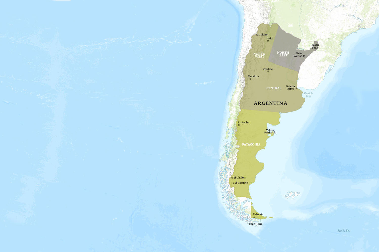 Argentina When to Go Map - March