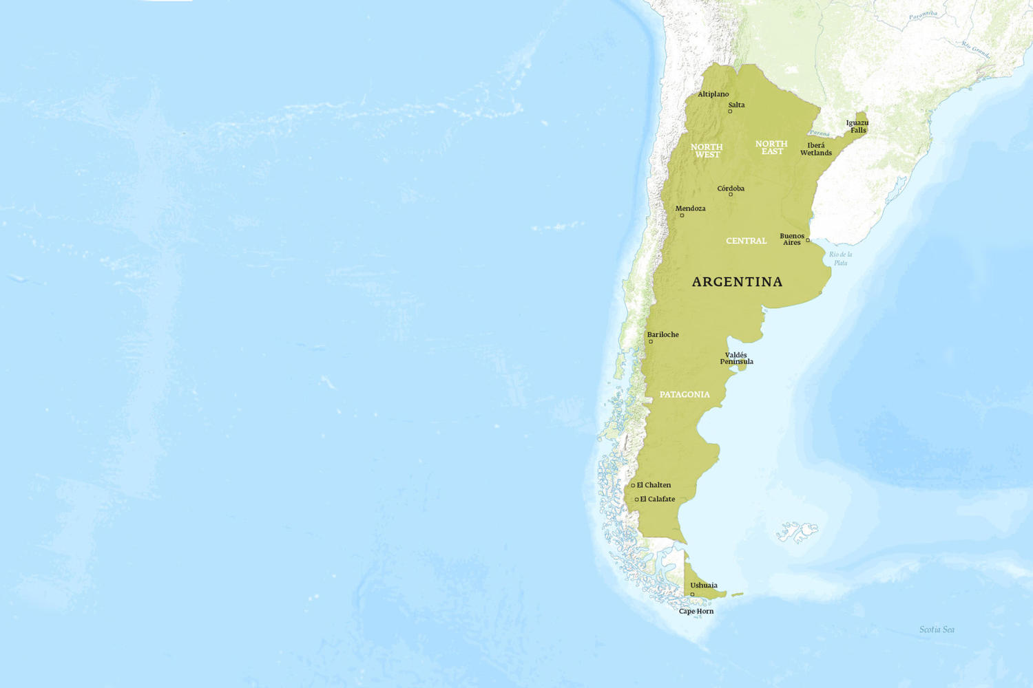 Argentina When to Go Map - April