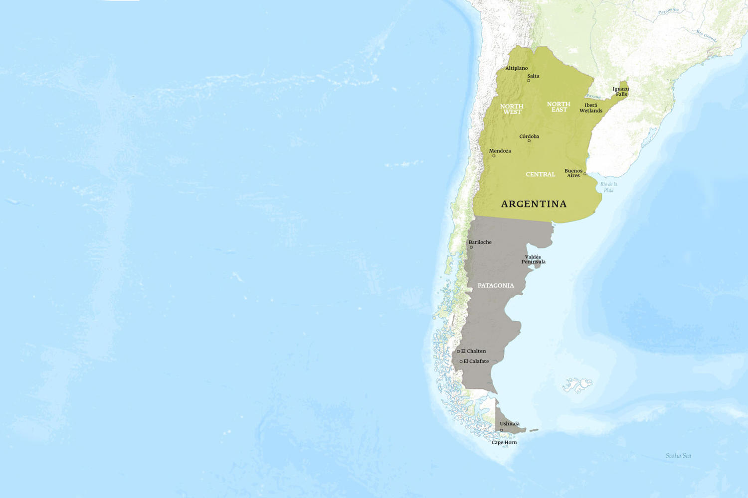 Argentina When to Go Map - May