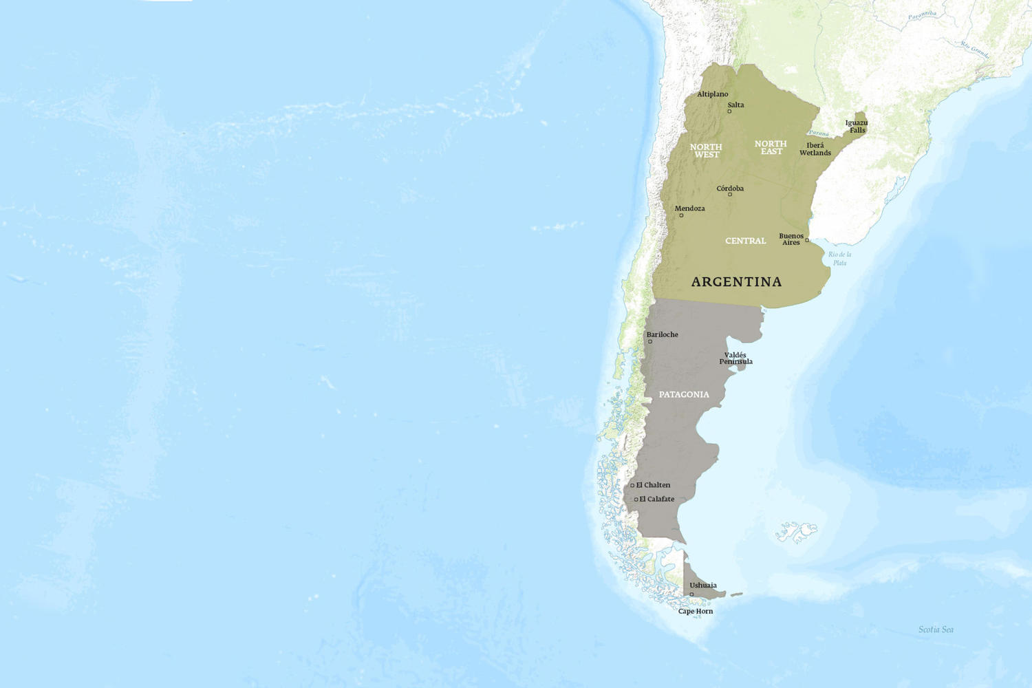 Argentina When to Go Map - July