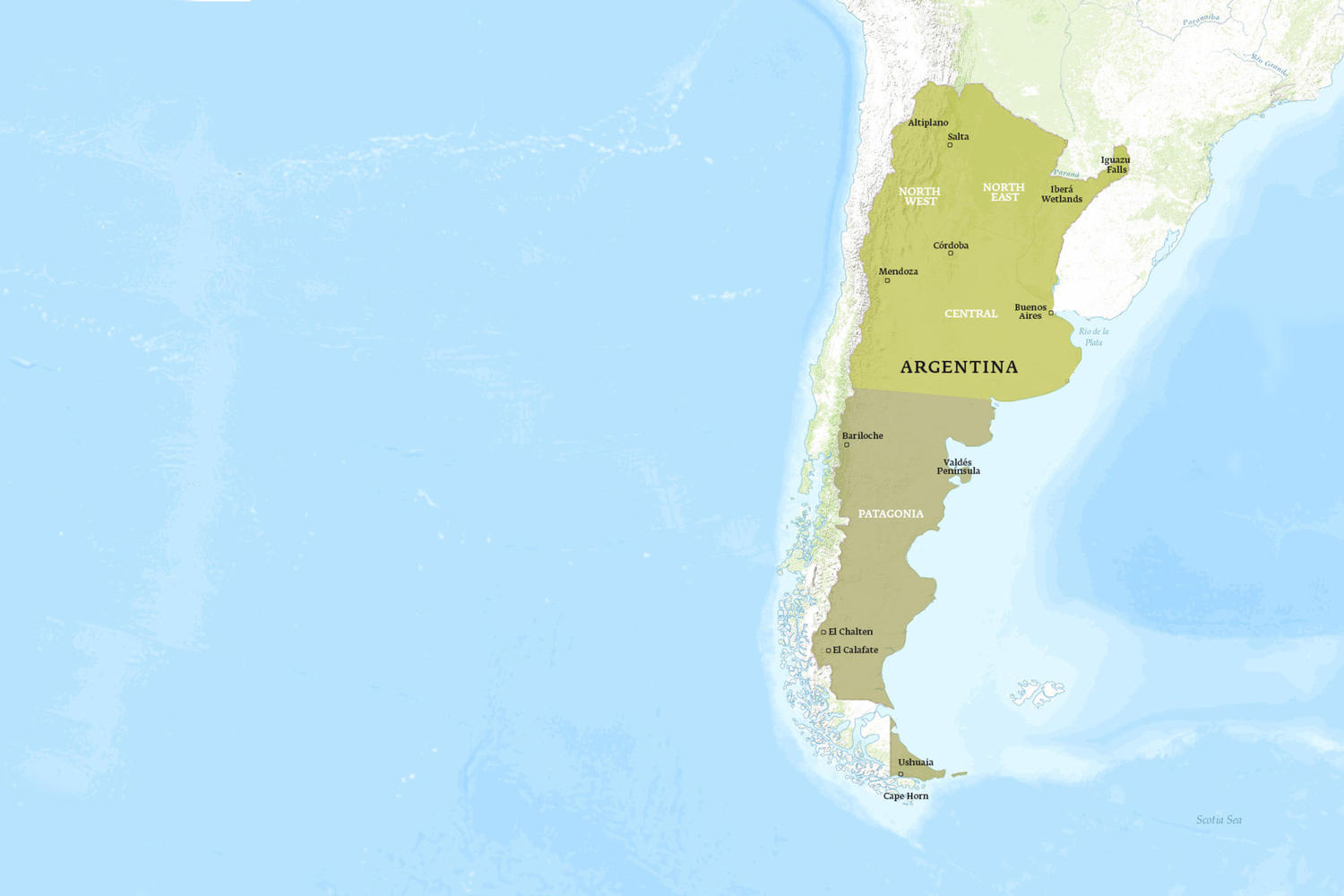 Argentina When to Go Map - October