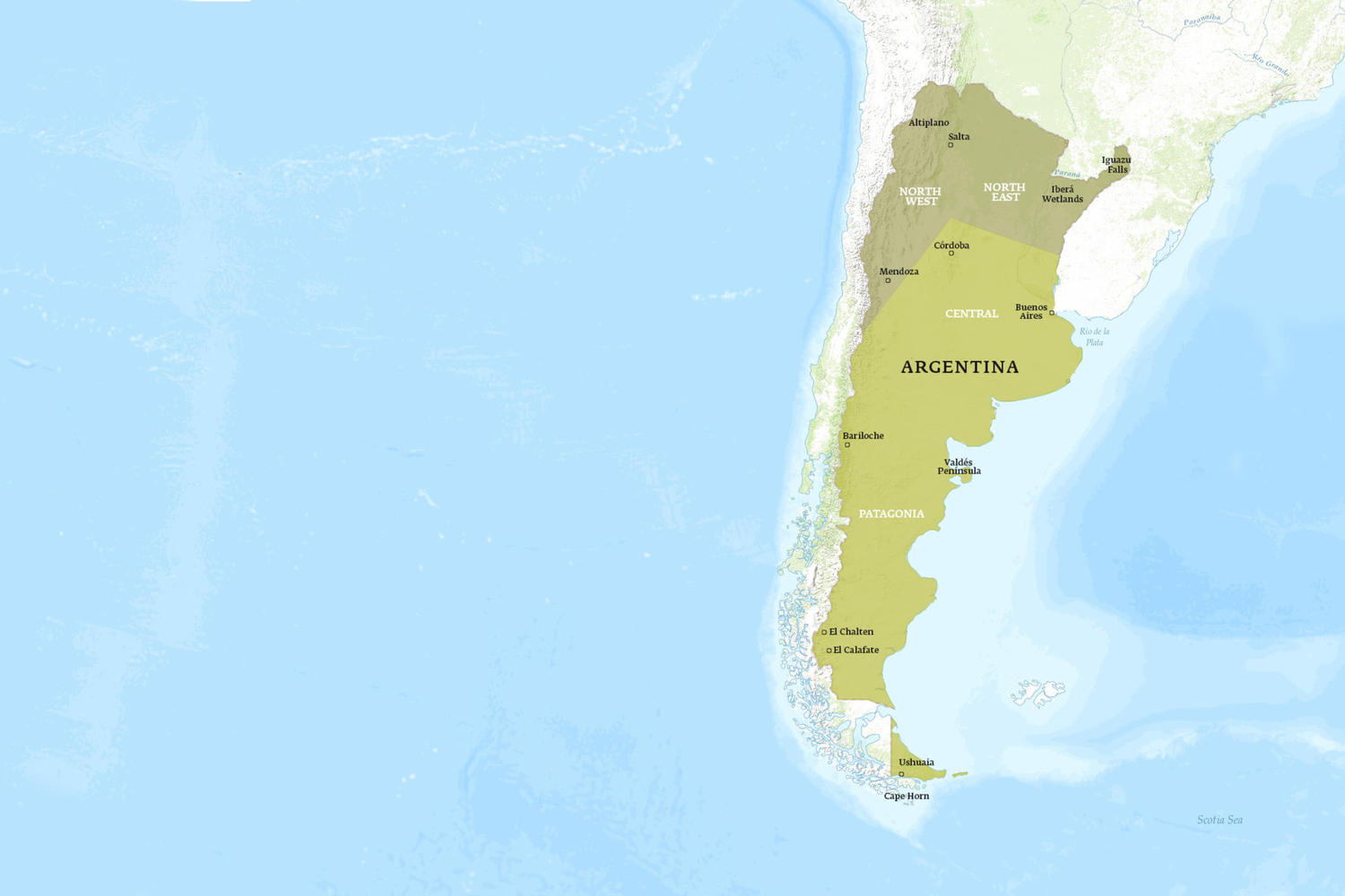 Argentina When to Go Map - November