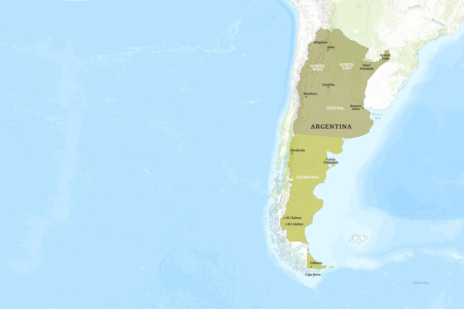 Argentina When to Go Map - December