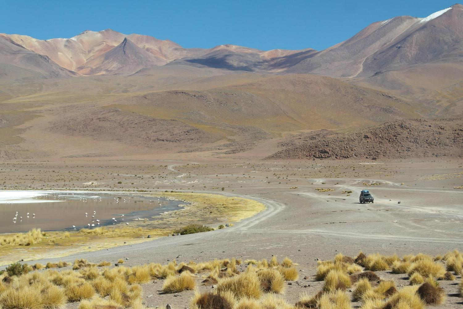 Crossing the Bolivian altiplano by jeep