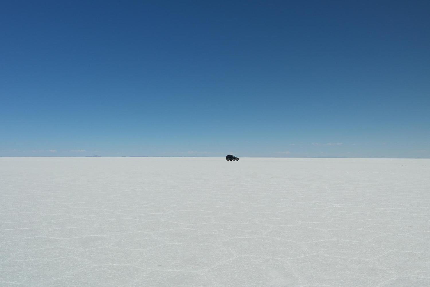 Crossing the vast expanses of Uyuni