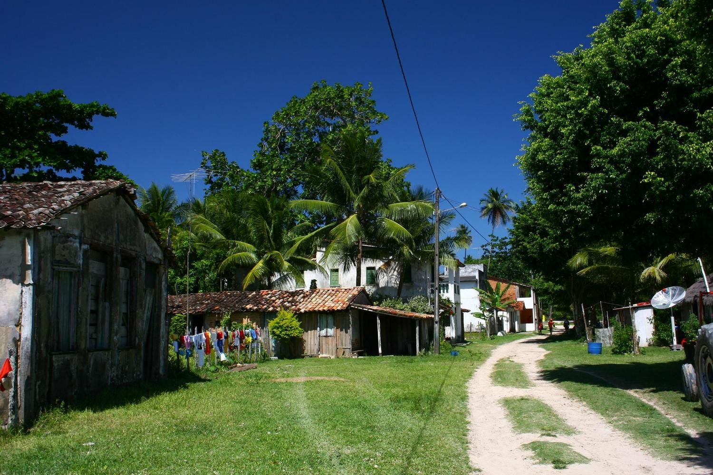 The village on Boipeba island, Bahia