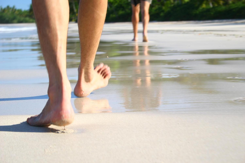 Walking along the beach in Boipeba