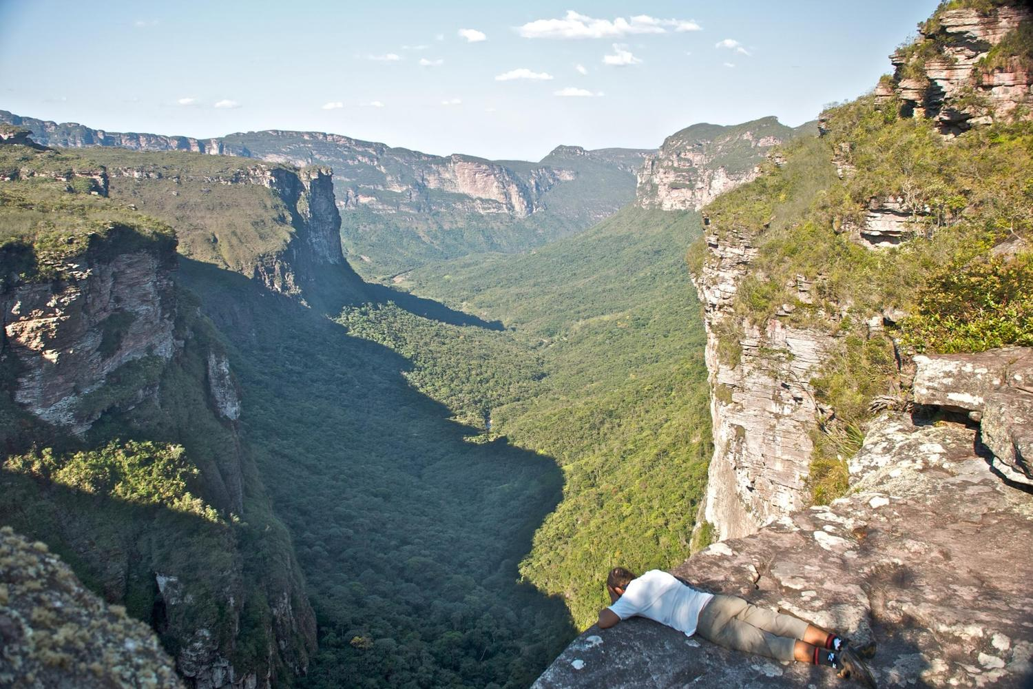 In dry season many of the waterfalls in the Chapada Diamantina are dry, allowing for some spectacular photos
