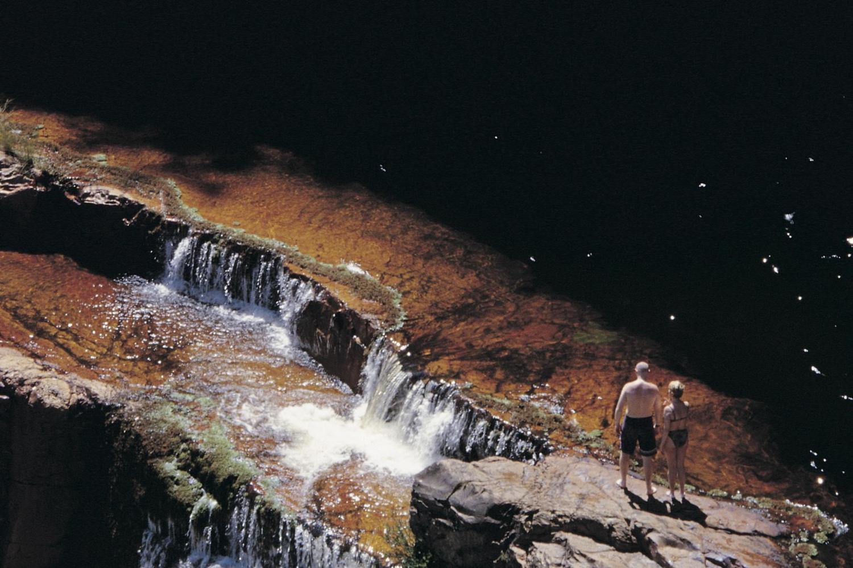 The Devil's waterfall in the Chapada Diamantina