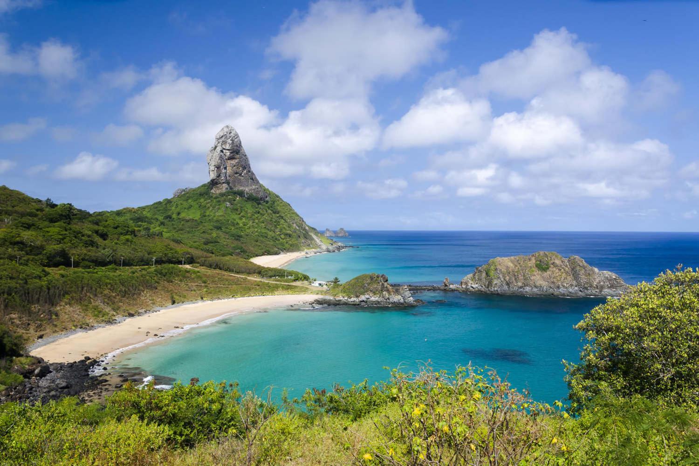 Wonderful beach view in Fernando de Noronha