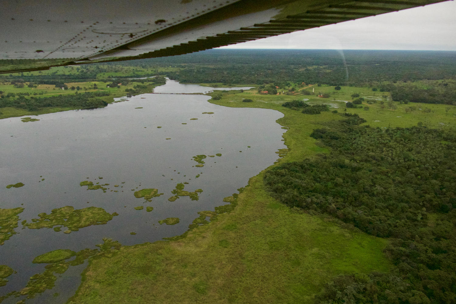 Flying over the watery Pantanal