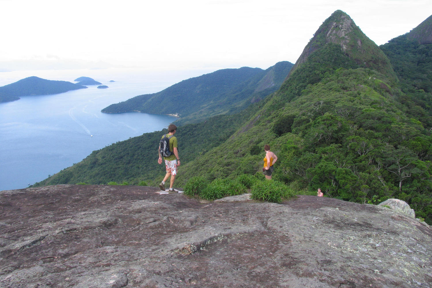 Hike to the top of the hills for great views of Paraty Bay