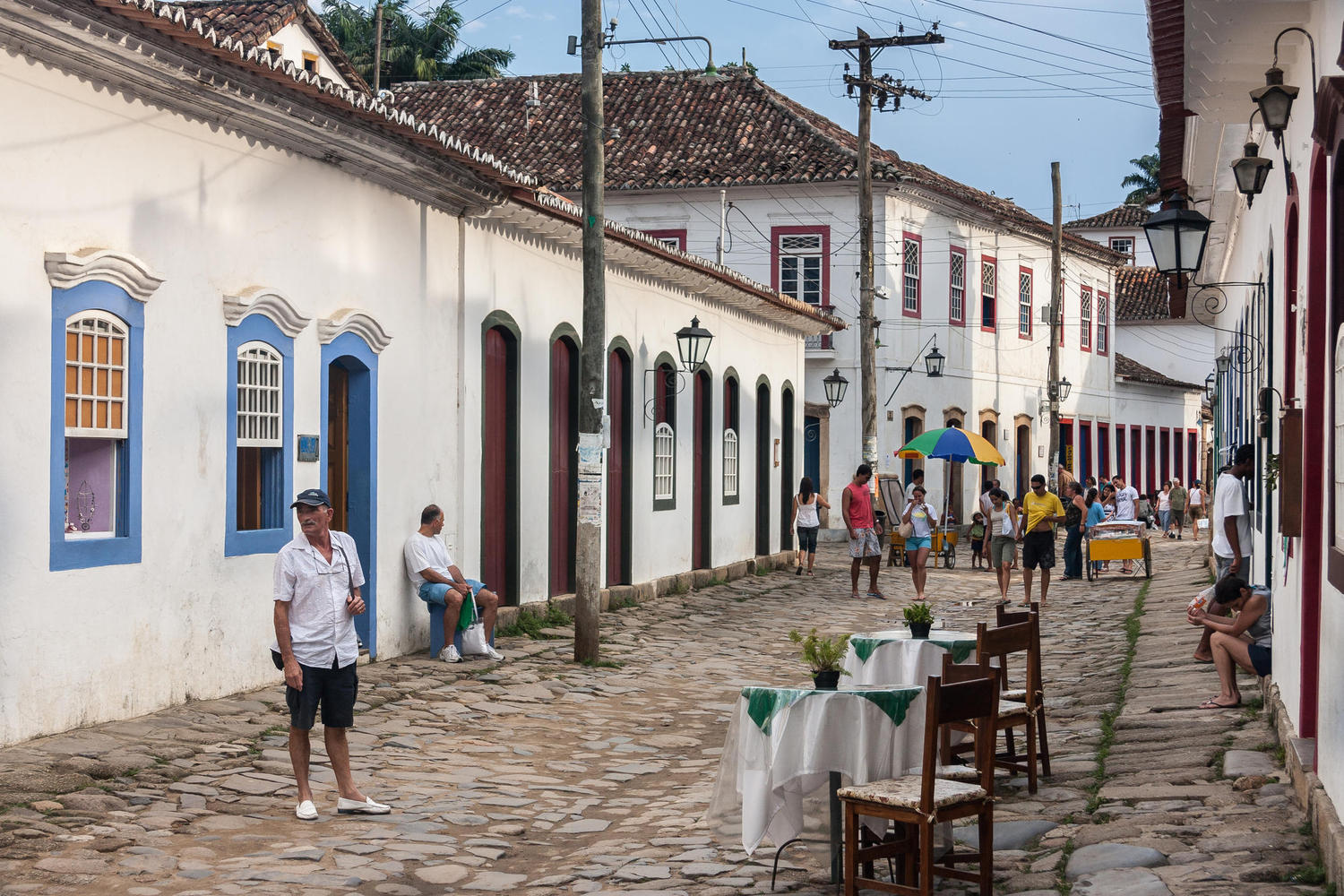The cobblestones of colonial Paraty, Brazil