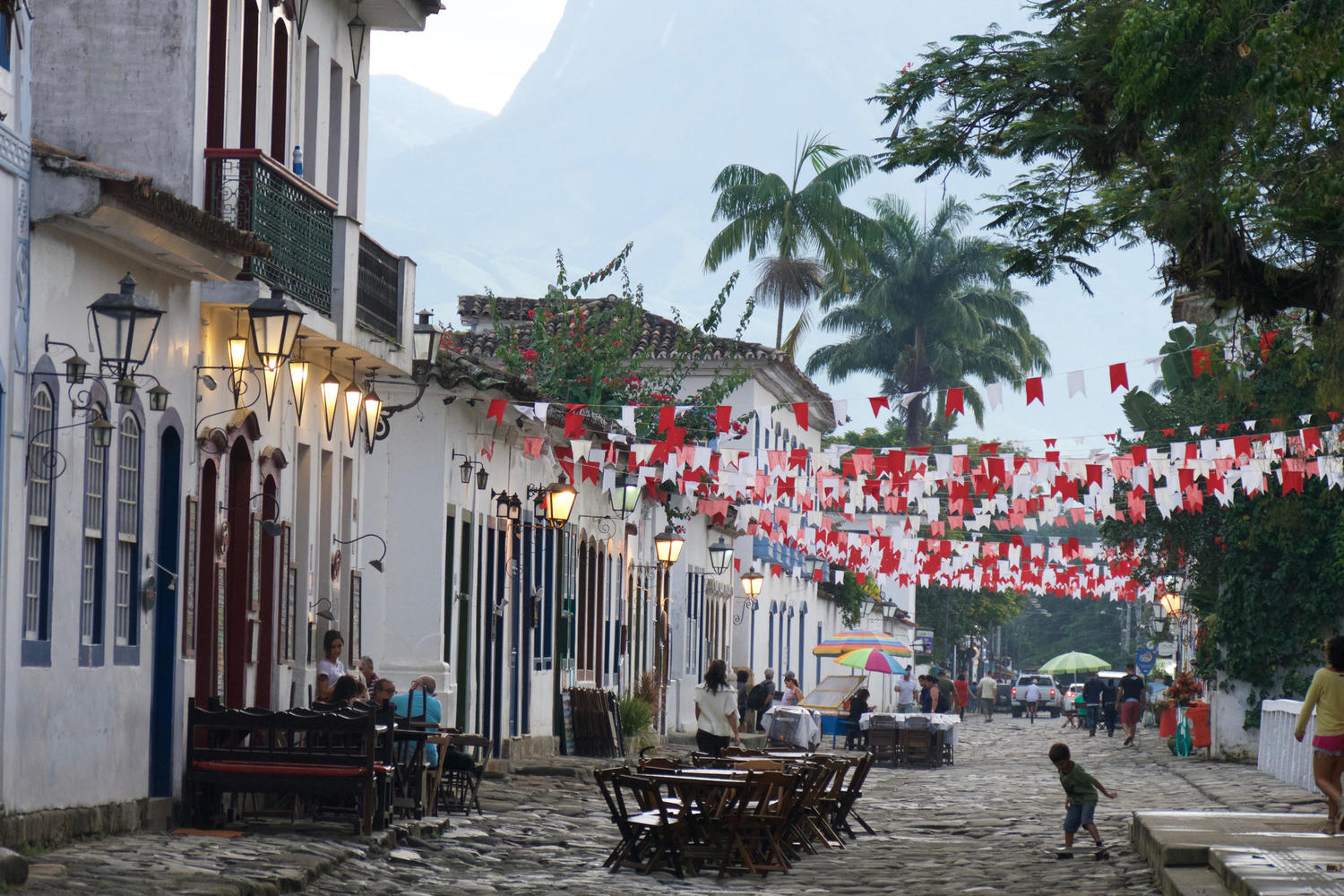 The colonial town centre of Paraty