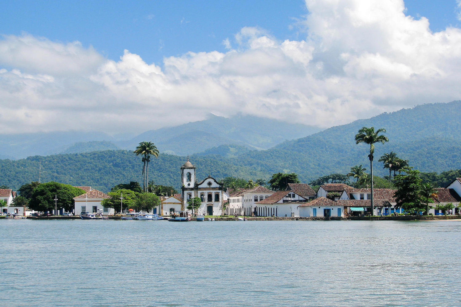 Looking across the bay to Paraty, Brazil