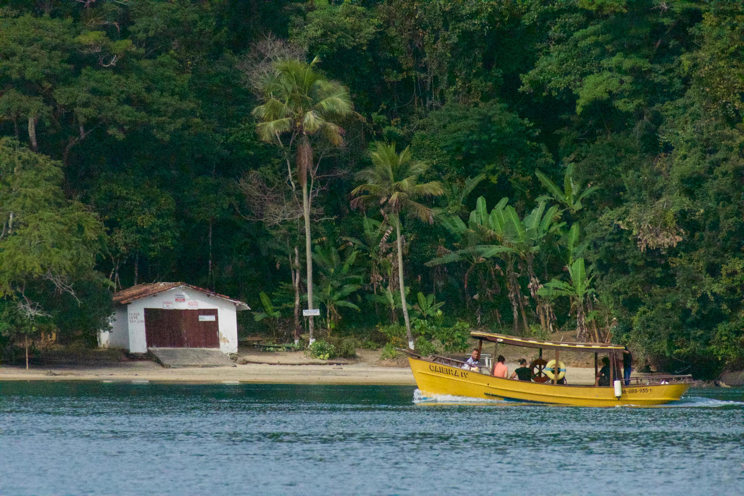 Remote beach of Paraty bay