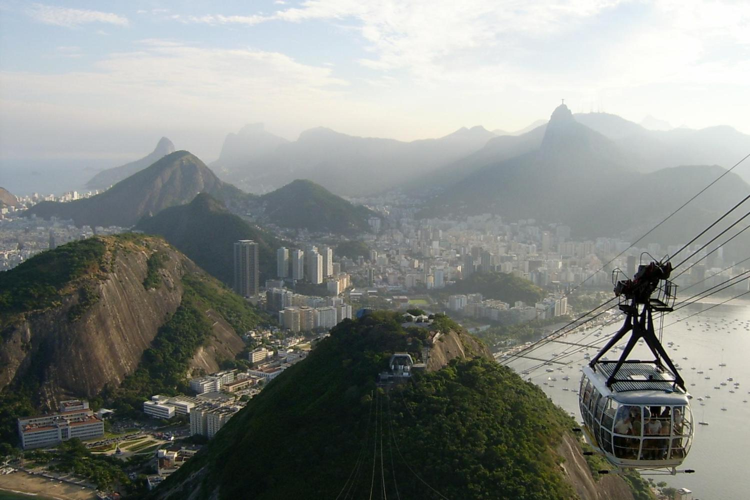 The cable car up to Sugarloaf mountain