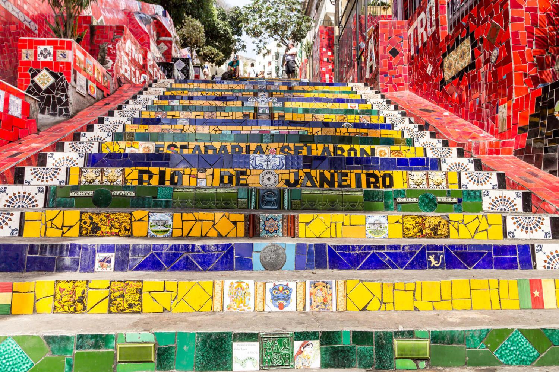 Rio de janeiro's famous 'escadaria selaron'