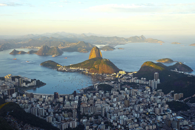 Beautiful panorama of Rio de Janeiro