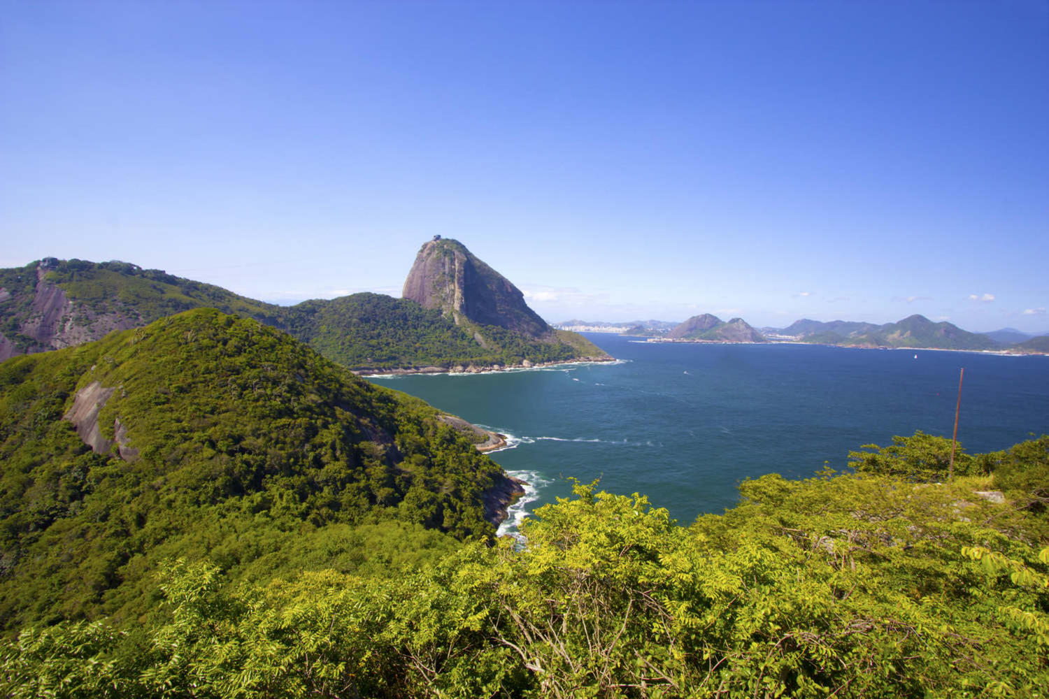 Stunning view of the Sugar loaf in Rio de Janeiro
