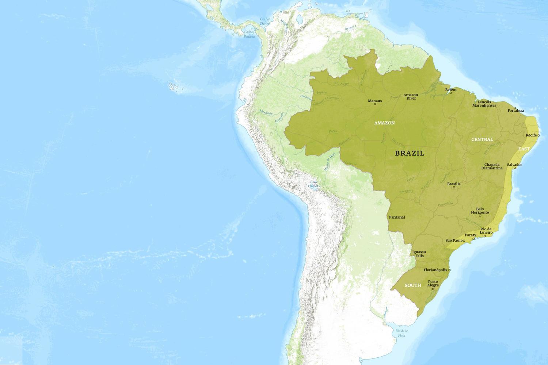 Brazil When to Go Map - September
