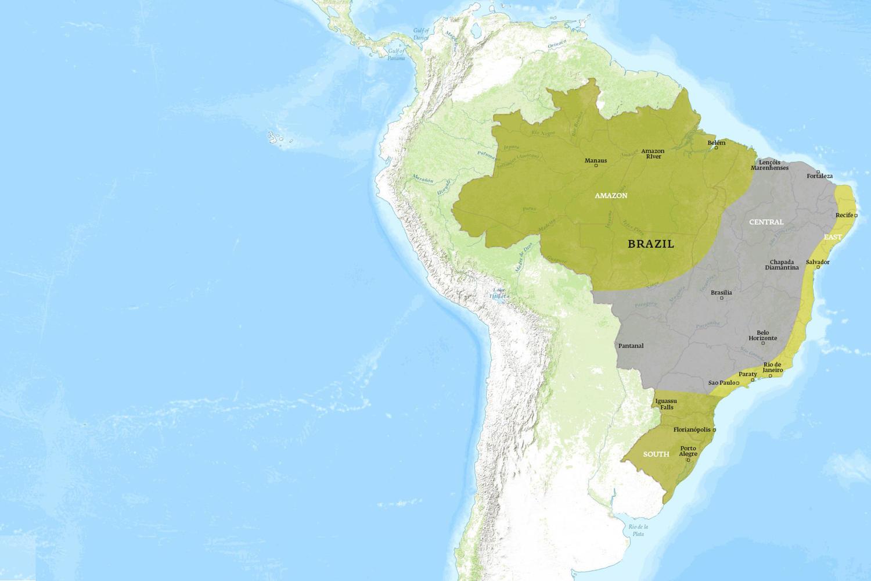 Brazil When to Go Map - November
