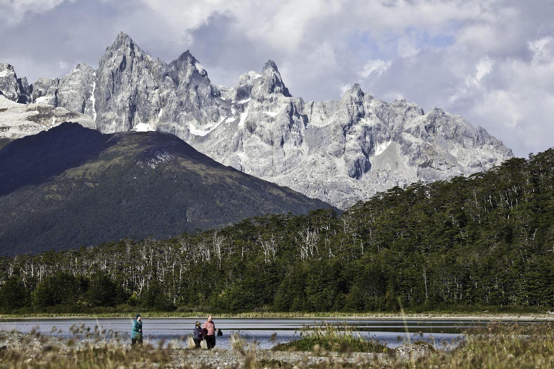 Walking in the Darwin mountains, Patagonia