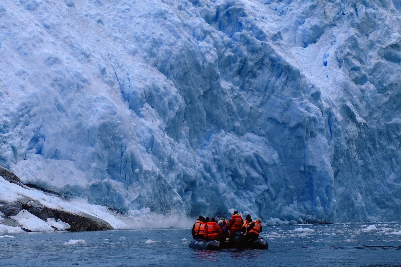 At the Pia Glacier