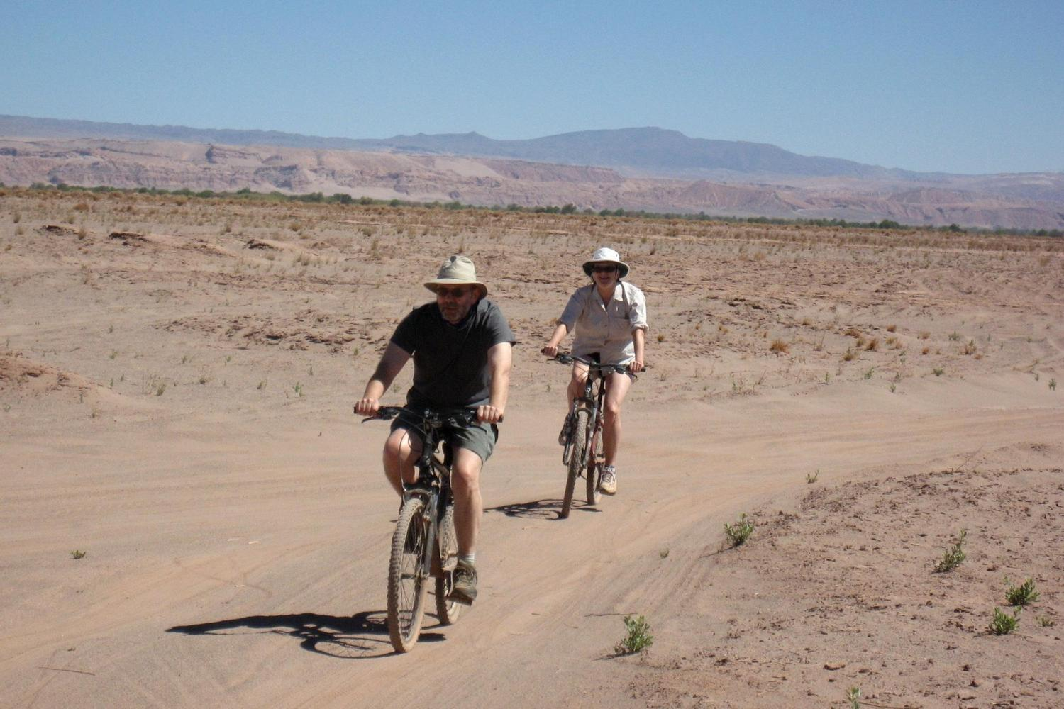 Gentle bike ride across the landscapes of the Atacama
