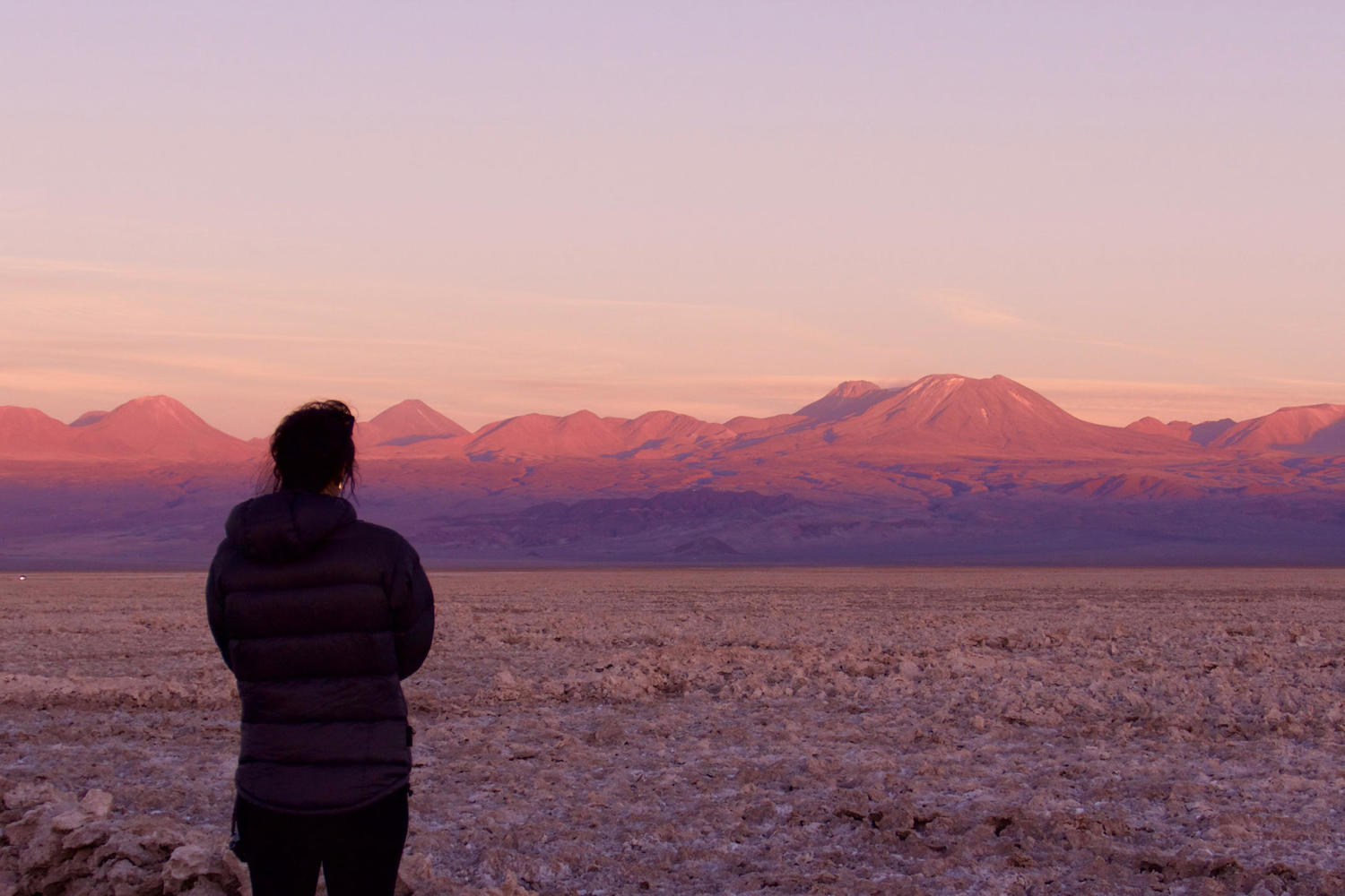 Sunset from the Valle de la Luna in the Atacama