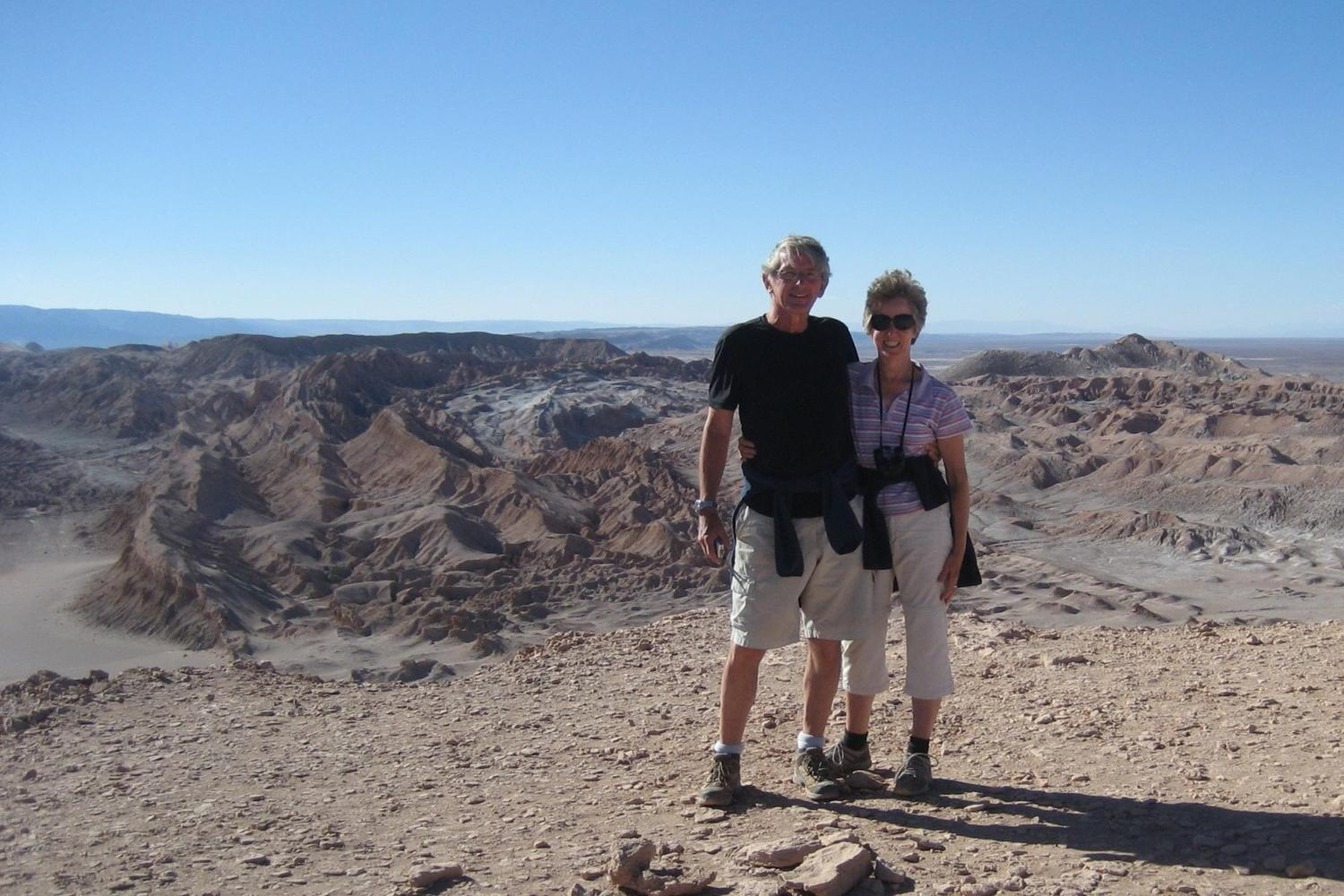 Standing on the edge of the Atacama desert