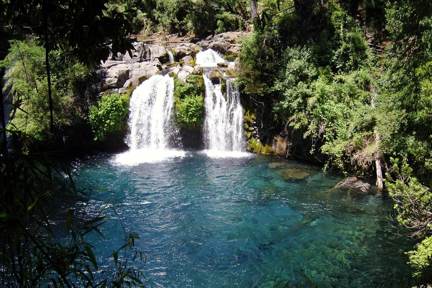 The Ojos de Caburgua pools and waterfalls near Pucón