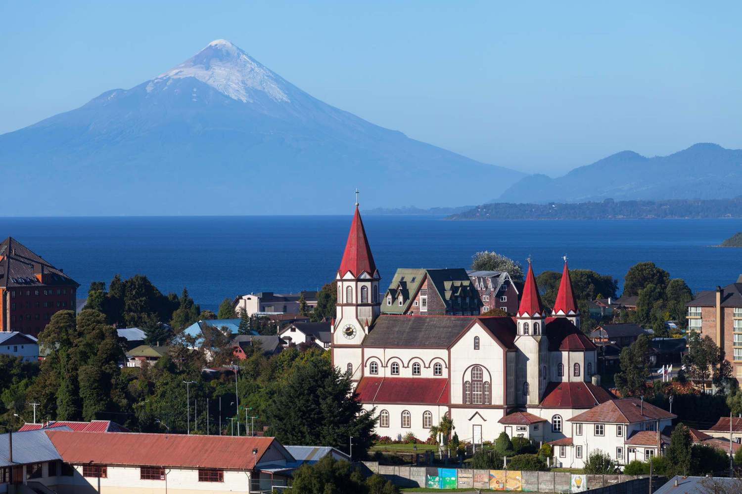 Beautiful sight of Puerto Varas