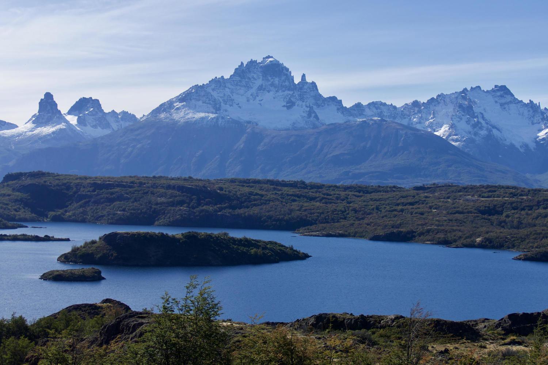 Views of Cerro Castillo from the Levican Peninsula