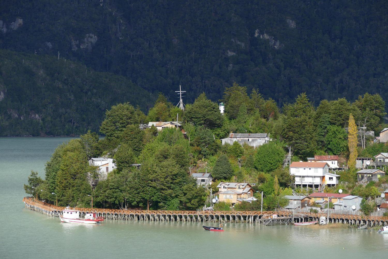 The remote village of Caleta Tortel in Chilean Patagonia